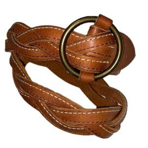 Abercrombie & Fitch Braided Leather Belt Small